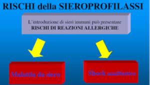 I rischi della sieroprofilassi